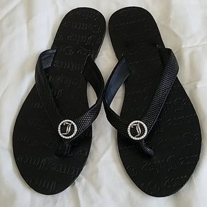 d18499e9ea754 Black Juicy Couture Flip Flops on Poshmark